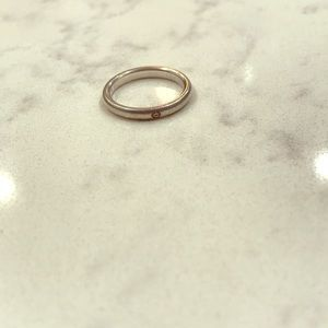 Tiffany & co sterling silver band with diamond